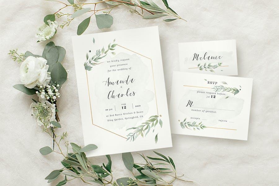 Modern Gold Foliage Wedding Suite