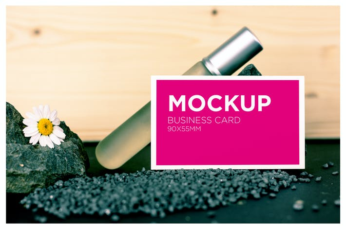 Thumbnail for Beauty Business Card Mockup