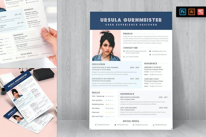 Thumbnail for Resume CV Template-32