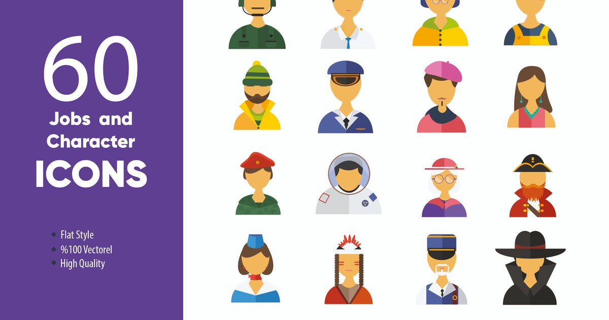 Download Jobs and Character Icons by M0DE0N