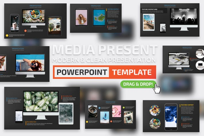 Thumbnail for Media Powerpoint Presentation Template