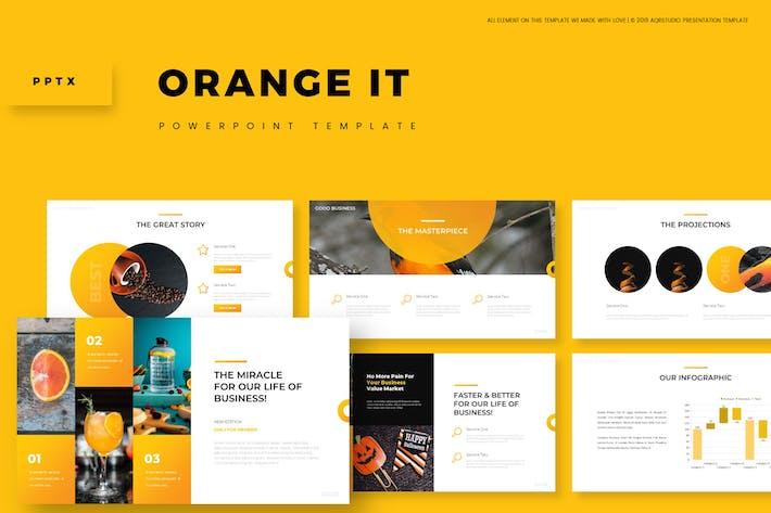 Оранжевый It - Powerpoint Шаблон