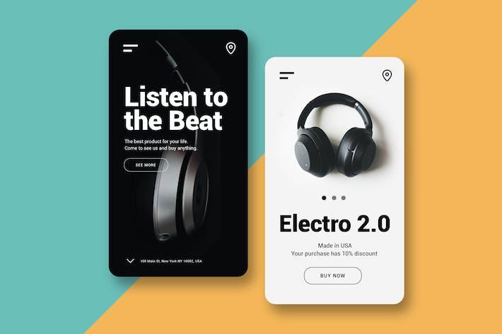 Thumbnail for Listen to the Beat - UI Mobile Kit