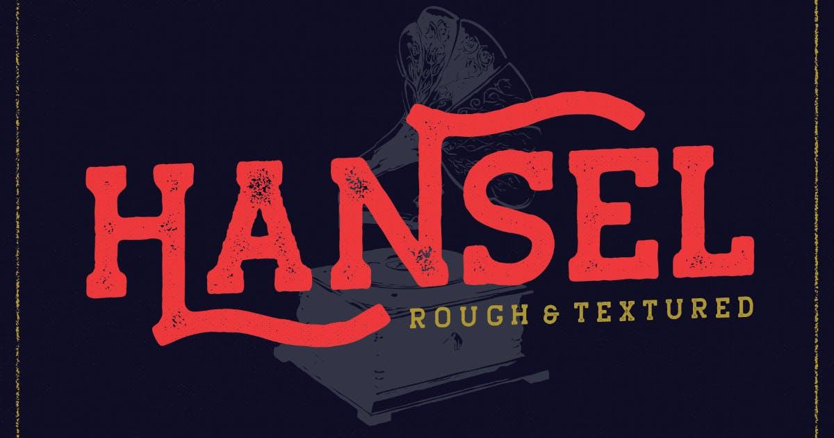 Download VT Hansel Vintage Slab Font by MartypeCo