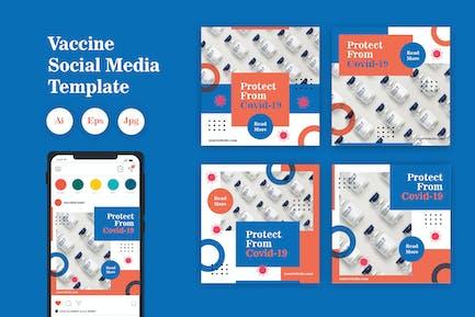 Vaccine Social Media Template Vol. 02