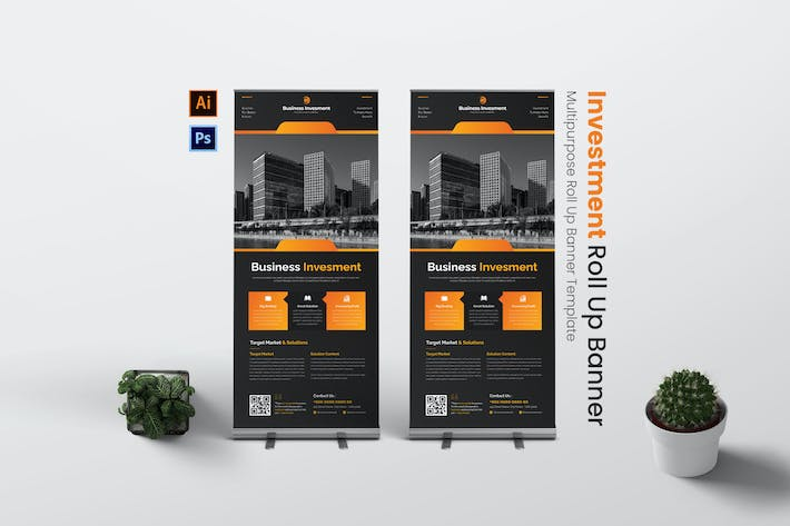 Invesment Project Roll Up Banner