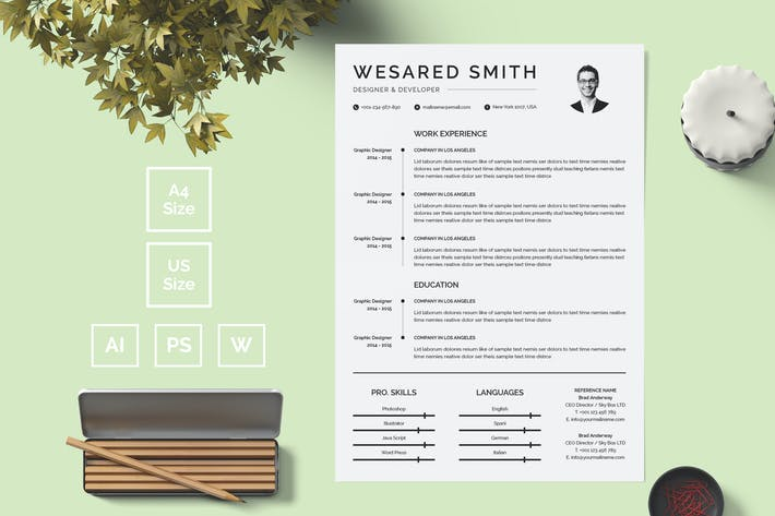 Thumbnail for Resume Template 13