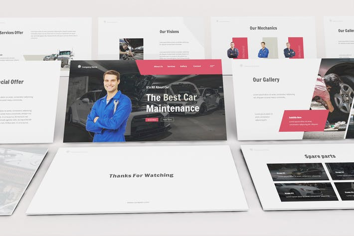 Thumbnail for Car Repair Keynote Template