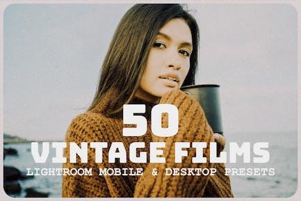 50 Vintage Films Lightroom Presets