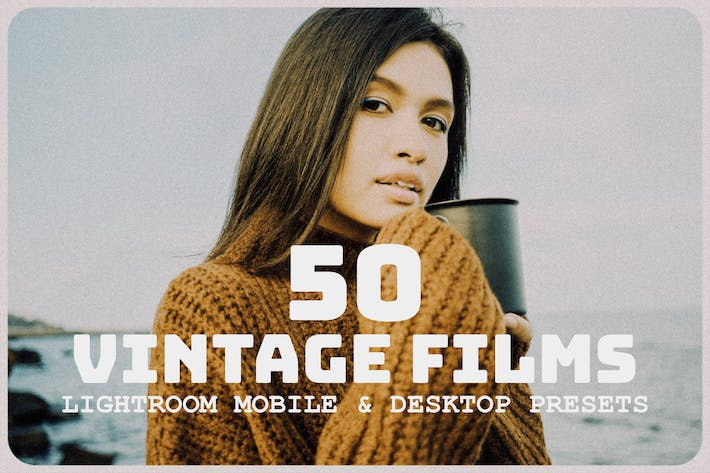 Thumbnail for 50 Vintage Films Lightroom Presets