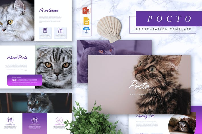 Thumbnail for POCTO - Pet Service Powerpoint/Google Slide/Keynot