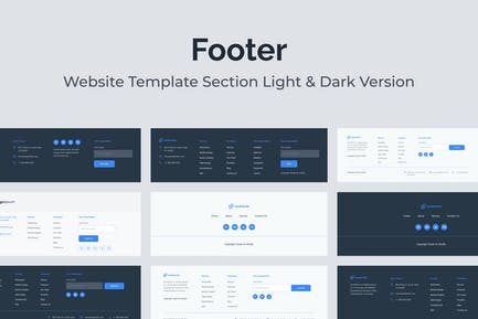 Web Footer Template