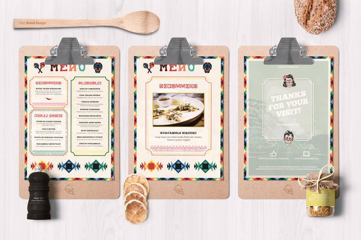 Cover Image For Mexican Style Food Menu Template