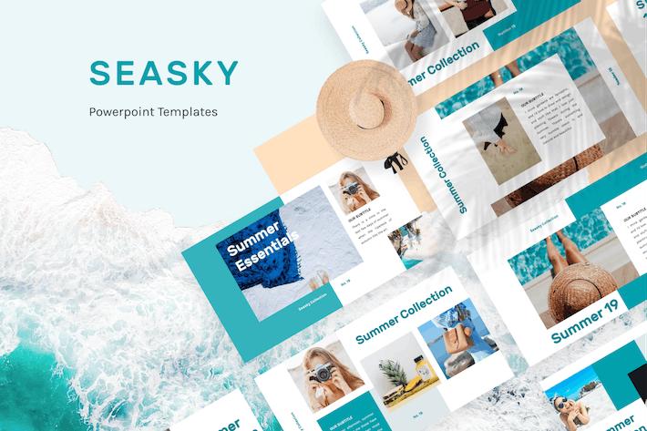 Thumbnail for Seasky Творческий Шаблон PowerPoint