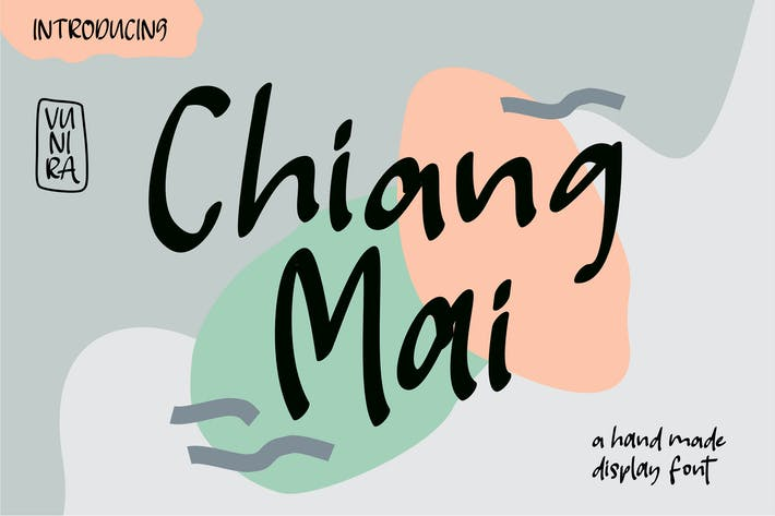 Thumbnail for Chiang Mai | A Handmade Display Font