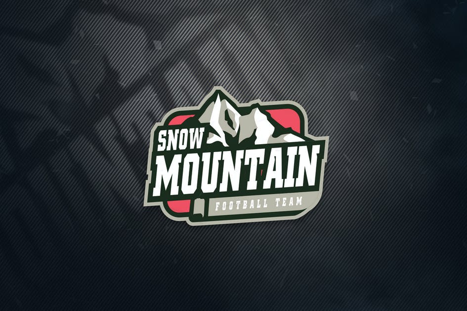 Download Snow Mountain Football Team Sports Logo by ovozdigital