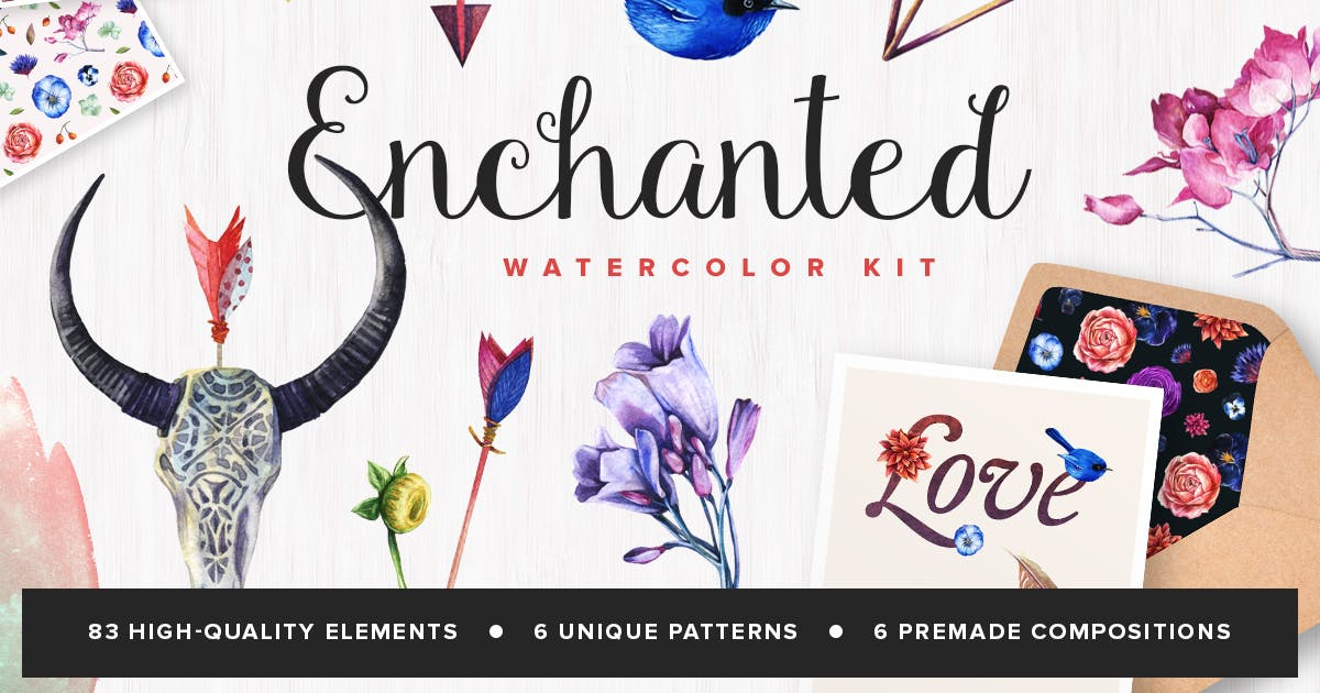 Download Enchanted Watercolor Kit by pixelbuddha_graphic