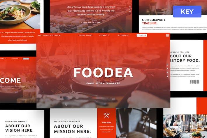 Foodea - Food Keynote Presentation Template