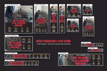 Movie Production & Film Studio Banners Ad