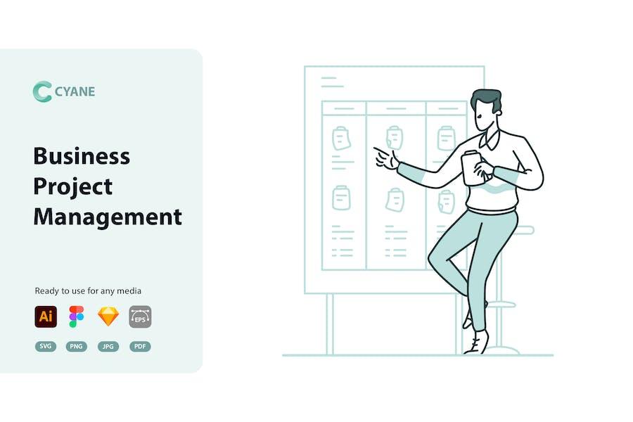 Cyane - Business Project Management Illustration