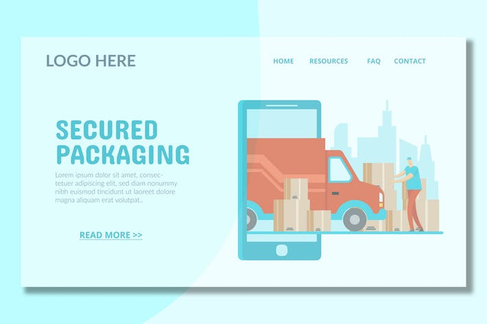 Thumbnail for Cargo Delivery - Landing Page