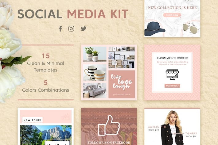 social media kit by brandifystudio on envato elements