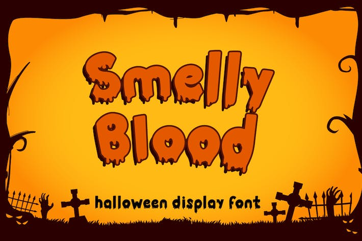 Thumbnail for Smelly Blood - Halloween Font