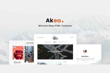 Akea - Minimal Blog HTML Template