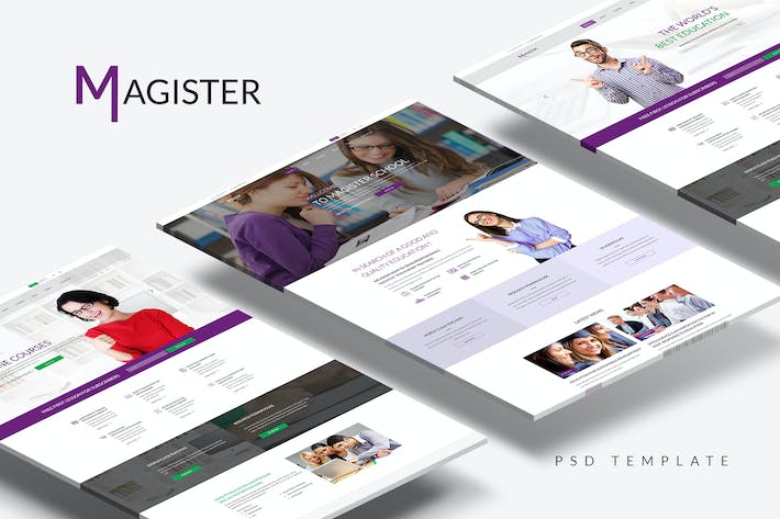 Thumbnail for Magister — Education/Courses/Academy PSD Template