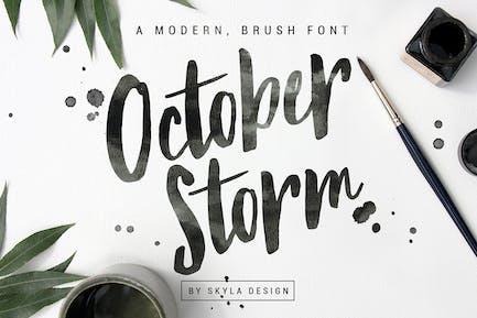 Police de pinceau moderne - October Storm