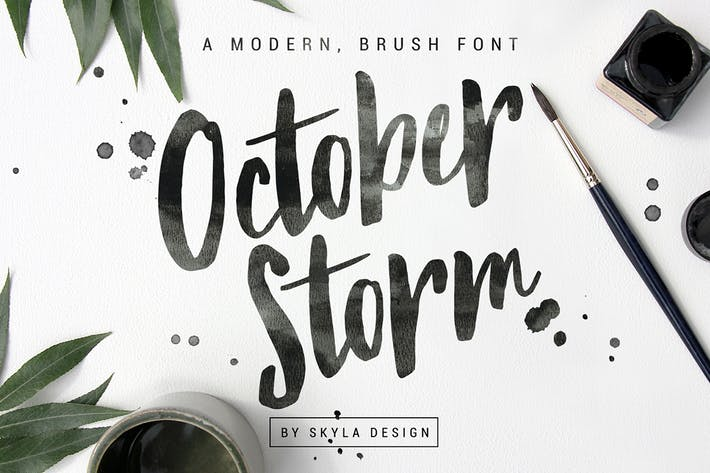 Thumbnail for Modern brush font - October Storm