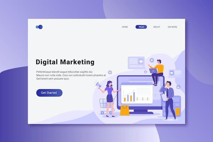 Thumbnail for Digital Marketing Flat Concept