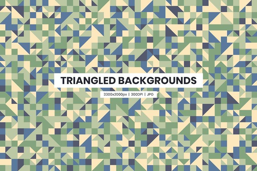 22 Triangled Background