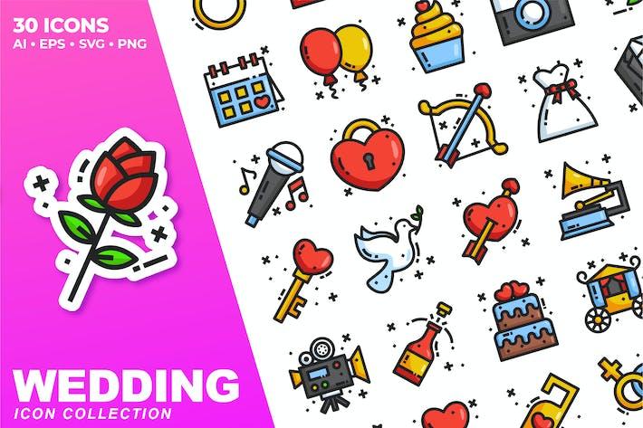 Wedding Color Icon Collection