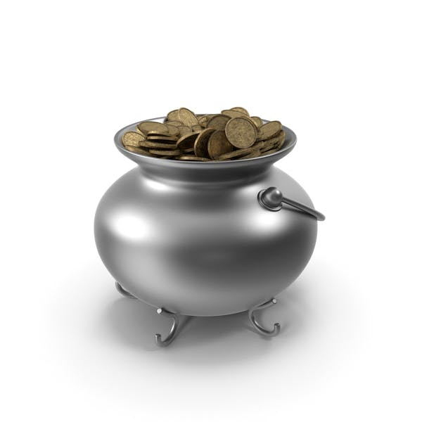 Pot Metall With Coins