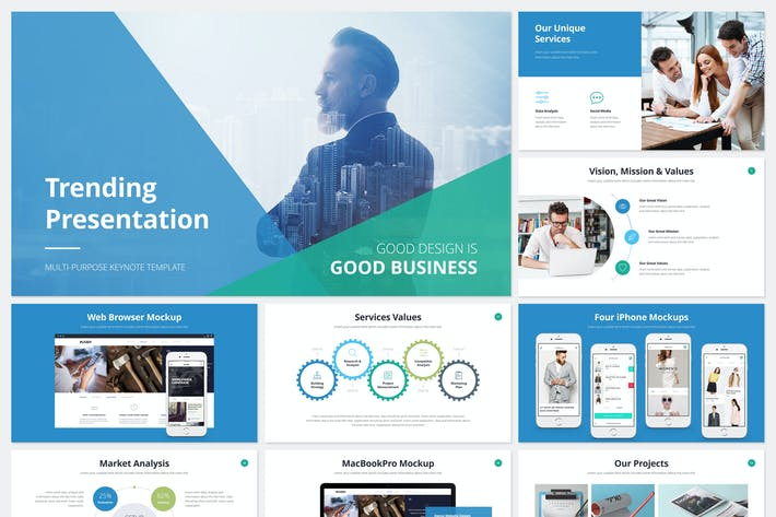 Thumbnail for Trending Presentation Keynote Template