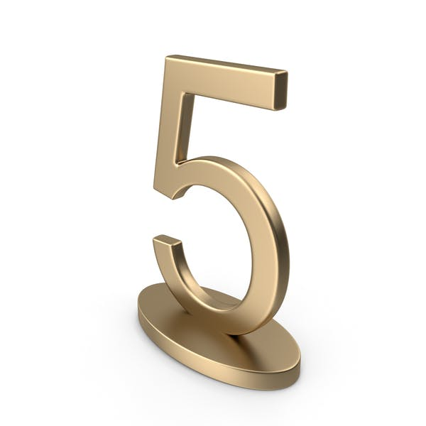 Table Numbers Sign 5