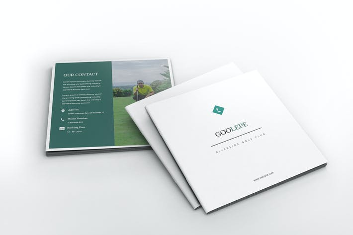 Thumbnail for Golf Square Brochure Template