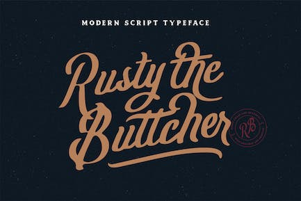 Rusty The Buttcher Typeface