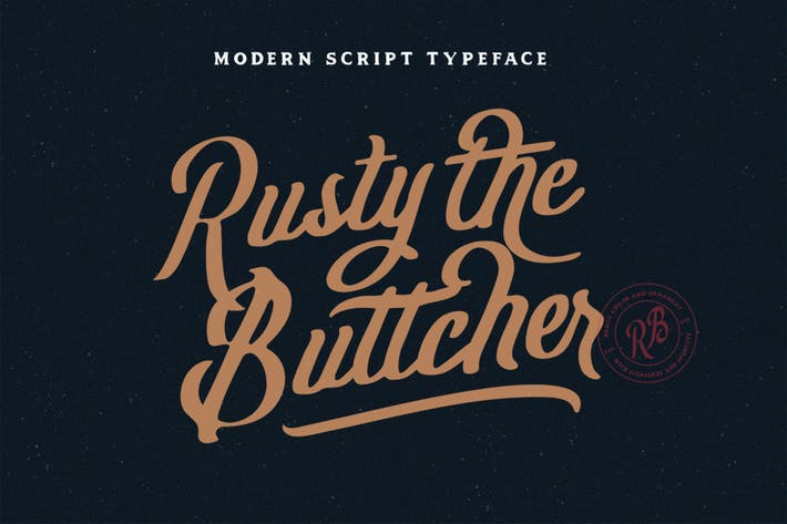 Thumbnail for Rusty The Buttcher Typeface
