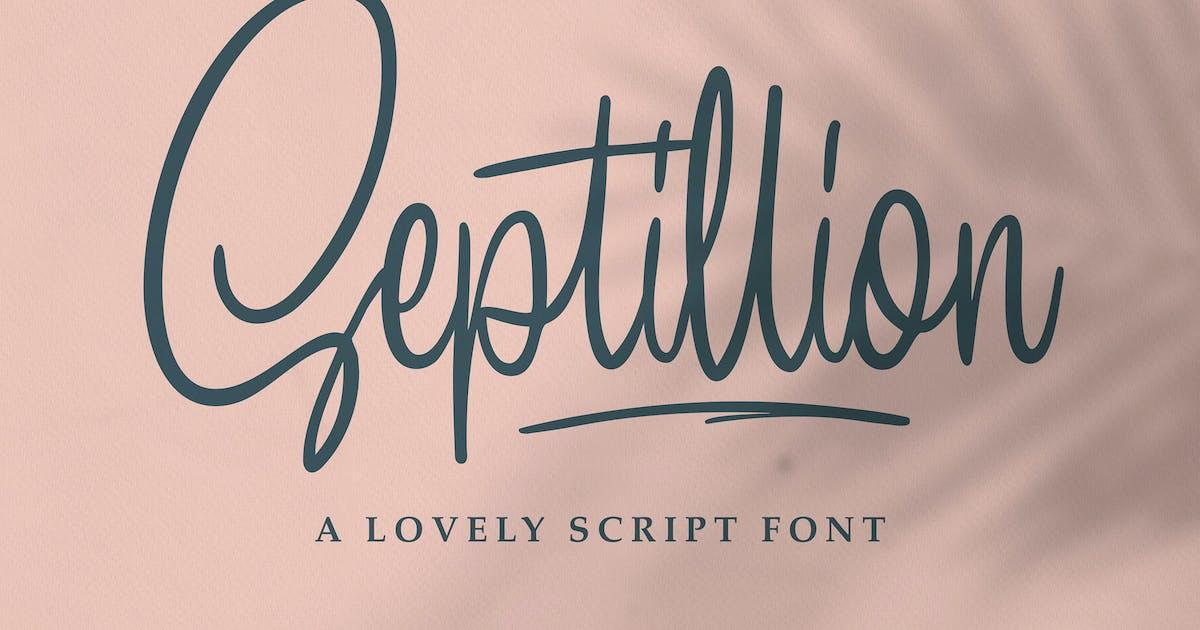 Download Septillion - Script Font by graptailtype