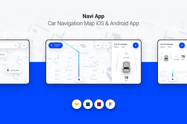 Thumbnail for Navi App - Car Navigation Map iOS & Android App