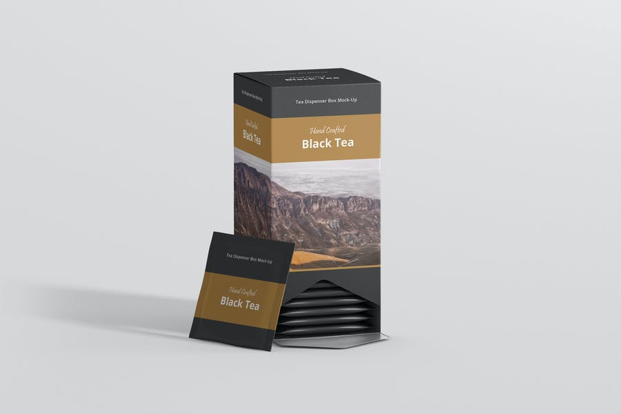 Tea Dispenser Box Mockup