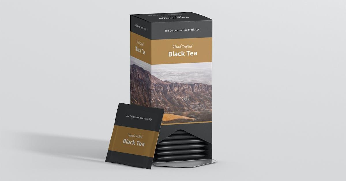 Download Tea Dispenser Box Mockup by visconbiz
