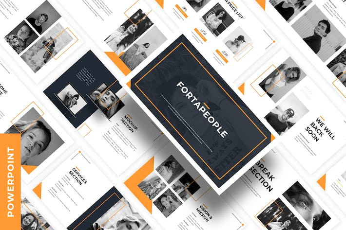 Cover Image For Fortapeople - Business Powepoint Template