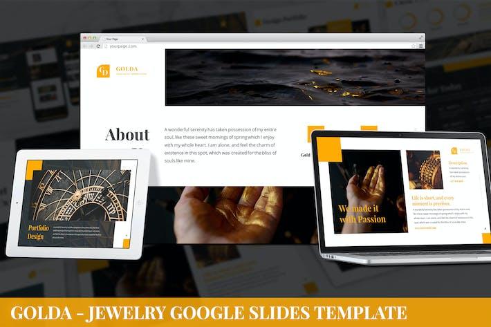 Golda - Jewelry Google Slides Template