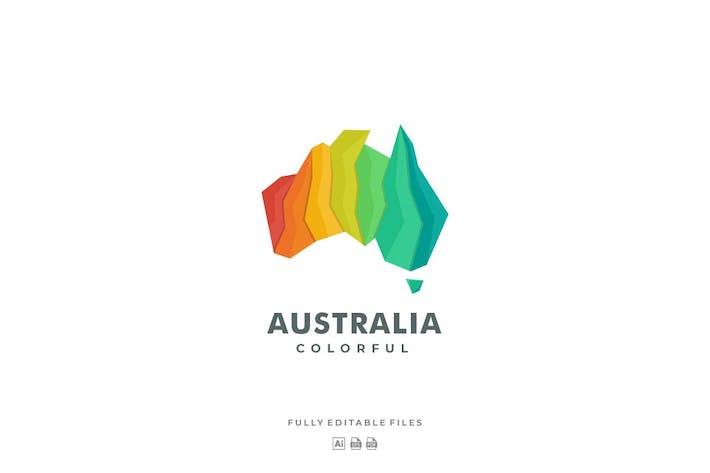 Thumbnail for Australian Continent Gradient Colorful Logo