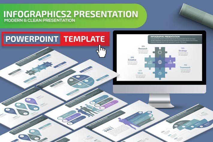 Thumbnail for Infographic2 Powerpoint Presentation Template