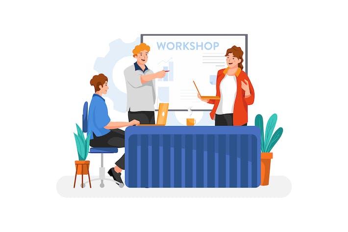 Business Workshop illustration concept