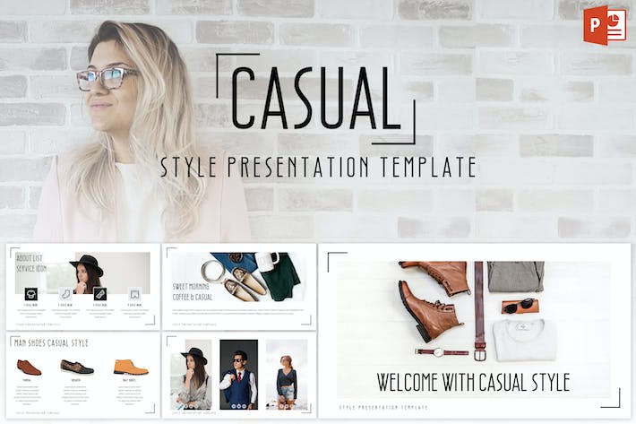Casual Powerpoint Template By Inspirasign On Envato Elements